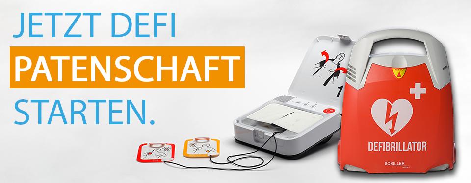 Benötigten Defibrillator durch Patenschaft finanzieren lassen!