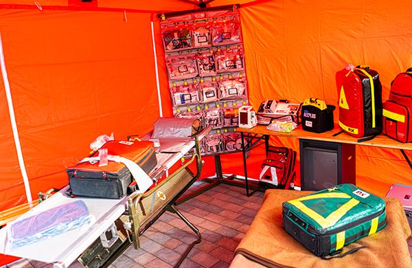 Sanitätsdienst Zelt